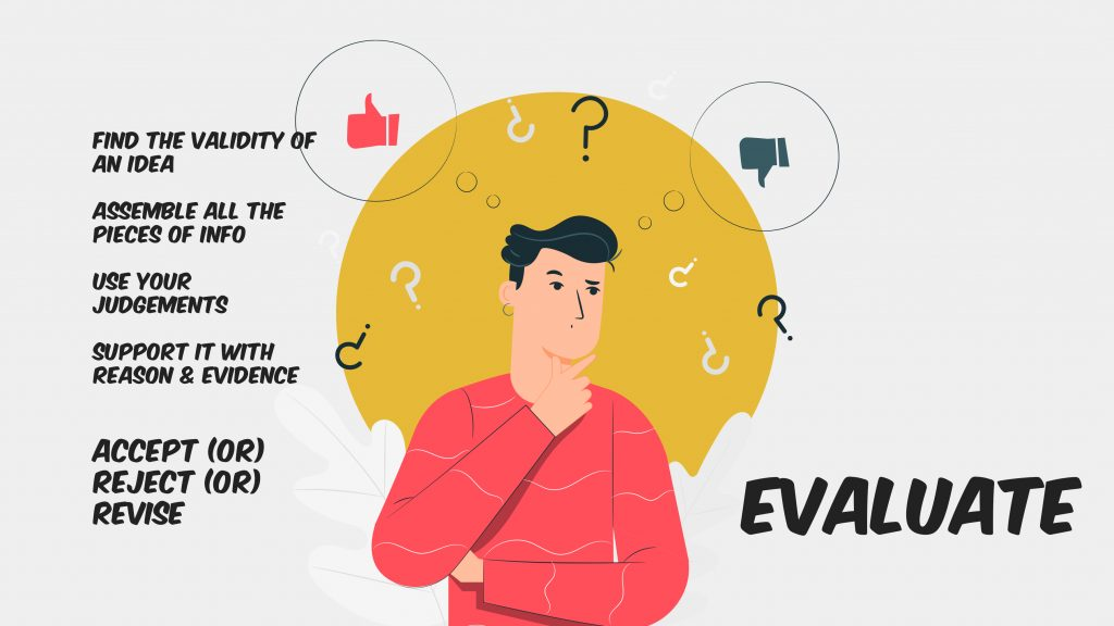Evaluate-higher-order-thinking